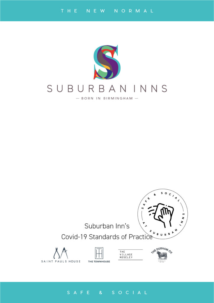 Front cover of the Suburban Inn's Covid-19 standards of practice